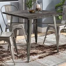 industrial dining room table industrial kitchen dining tables you ll love wayfair