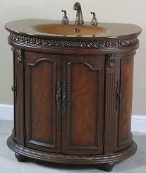 Bathroom Vanities Canada Online by Ultimate Accents Half Round Walnut Glass Top Bathroom Vanity