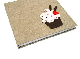 brown cupcake hard bound diary from the exclusive home decor and