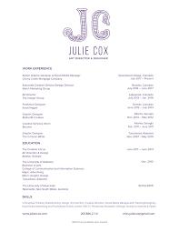 resume u2014 julie cox