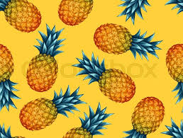pineapple wrapping paper seamless pattern with pineapples tropical abstract background in