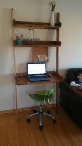 Leaning Bookshelf With Desk Ana White Pottery Barn Studio Leaning Shelf Diy Projects