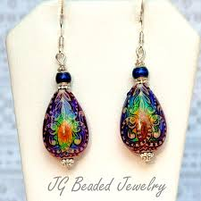 changing earrings colorful mood earrings jg