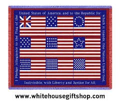 when was the made flag pledge of allegiance throw blanket