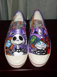 the nightmare before handpainted shoes by rachelliles352