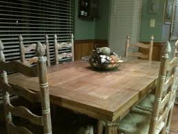 ranch oak table stripped and refinished with a combination of
