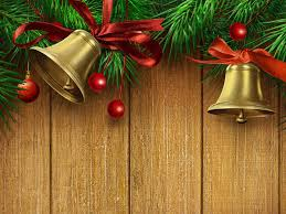 free christmas bells happy new year ribbon backgrounds for