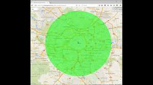 draw a radius on a map how to draw a radius on a map