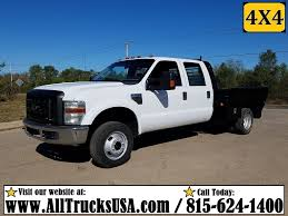 Ford F350 4x4 Trucks - 2010 ford f350 4x4 crew cab 6 8 v10 gas 9 u0027 4 u0027 u0027 flatbed gooseneck