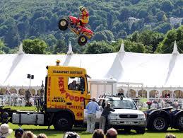 monster truck stunt show injured kangaroo kid aims to repeat royal welsh jump stunt at