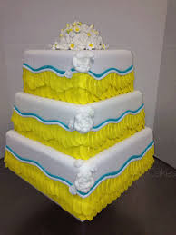 yellow and white wedding cake png