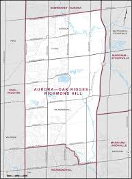 Aurora Map Aurora U2013oak Ridges U2013richmond Hill Maps Corner Elections Canada