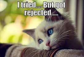 Rejection Meme - the sting of rejection is not so bad the siren of brixton