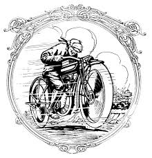 vintage clip art motorcycle man father u0027s day the graphics fairy