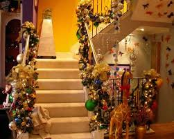 a whole bunch of christmas staircase decorating ideas u2014 style estate