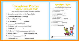 5 their they re there worksheet math cover