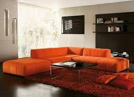 Orange Sofa Bed Sofa Fancy Living Room With Orange Sofa Living Room With Orange
