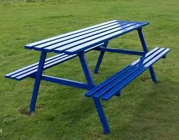 Wooden Picnic Table Plans Metal Picnic Tables U2013 Littlelakebaseball Com
