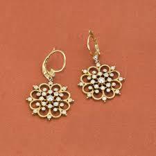 earrings brands leslie greene 18k yellow gold tribeca diamond drop earrings