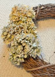 dried hydrangeas dried hydrangea wreath fall wreath our updated entryway