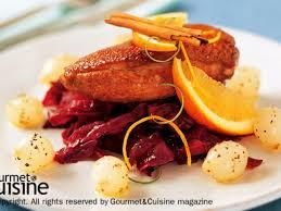 duck in cuisine glazed duck breast on braise cabbage ส ตรจาก gourmetandcuisine com