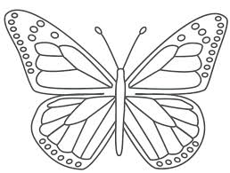 simple butterfly coloring pages butterfly coloring page for