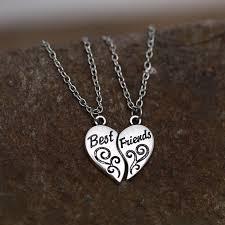 trendy necklace pendants images Couple necklaces quot best friends quot puzzle necklace broken heart jpg