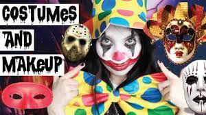 trying on halloween costumes makeup youtube