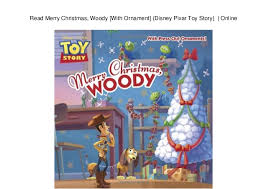 read merry woody with ornament disney pixar story