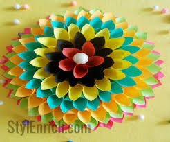 Paper Crafts - home decoration idea paper floral craft 8 steps