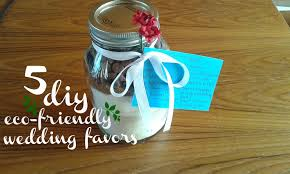 5 eco friendly diy wedding favors