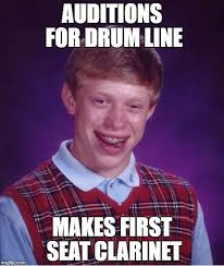 Clarinet Meme - bad luck brian meme imgflip