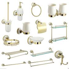 gold bathroom accessories uk bathing decoration gold bathroom