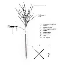2 2m 300led cherry blossom tree light cool white home party