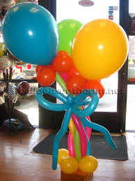 balloon centerpiece balloons on the run party decorations r us balloon centerpieces