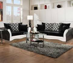 Commando Black Sofa Black And White Sofa And Love Living Room Set 8000 Black And
