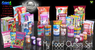 a3ru various drug clutter sims 4 downloads jomsims creations my food clutters sims 4 cc pinterest