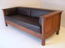 mission style leather sofa mission sofa ebay