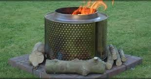 Washing Machine Firepit Pretty A Great Concept Legs Washing Machine Drum Pit With