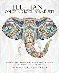 elephant coloring book for adults an coloring book of 40