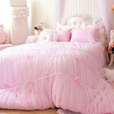 Korean Comforter Toile Bedding Pink And Green Dairy Calf Bedding
