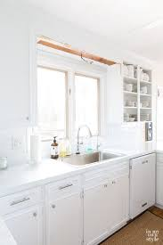 Kitchen Cabinet Valance by Removing The Scalloped Wood Valance Over The Kitchen Sink In My