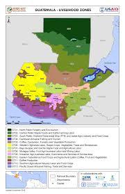 Usda Zone Map Guatemala Livelihood Zone Map Fri 2017 01 13 Famine Early