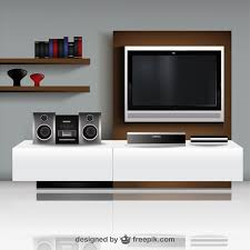 livingroom tv living room with tv illustration vector vector free