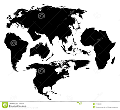 Map Of The World Black And White by A Different Map Of The World Stock Image Image 7196431