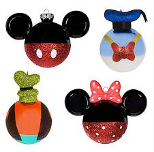 mickey minnie mouse donald duck and goofy tree ornaments