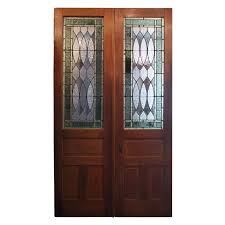 antique stained glass doors for sale superb antique pair of oak doors with stained glass early 1900 u0027s