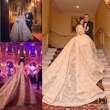 krikor jabotian 2017 champagne blush princess cathedral train