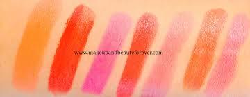 orange color shades all loreal paris color riche moist matte lipstick review shades