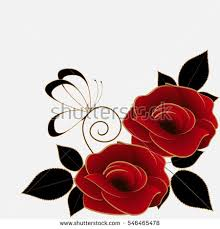 floral background roses butterfly stock vector 546465478